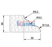 Комплект инструмента по камню профиль Q30 r9.2+9.2+11.6 Ghines