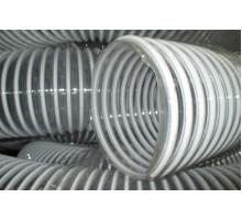 Воздуховод  из  пластичного ПВХ армированный ударопрочной спиралью ф127 мм