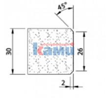 Комплект инструмента по камню Ghines профиль Х30 45° р26 Ø22,2 мм
