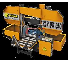 Полуавтоматический ленточнопильный станок c призматической поддержкой для пакетной резки KESMAK. Модели KLY PK 550 и KLY PK 650