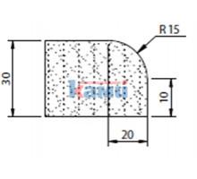 Комплект инструмента по камню профиль A30 r15 Ghines